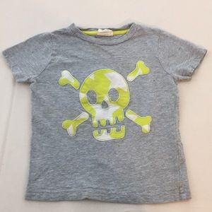 2-3y Mini Boden skull appliqué tee